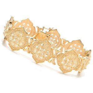 Jaipur Jewelry Bazaar 18K gold embraced bracelet